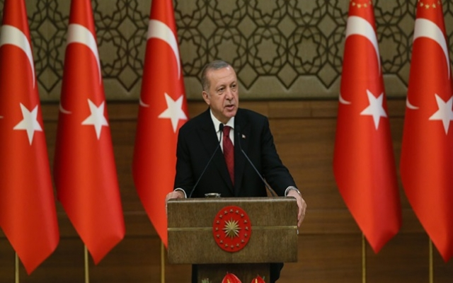 Cumhurbaşkanı Erdoğan açıklama yapıyor