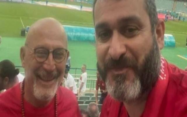 Cevat Ekşi ile Taranoğlu milli maç için Bakü'deydi